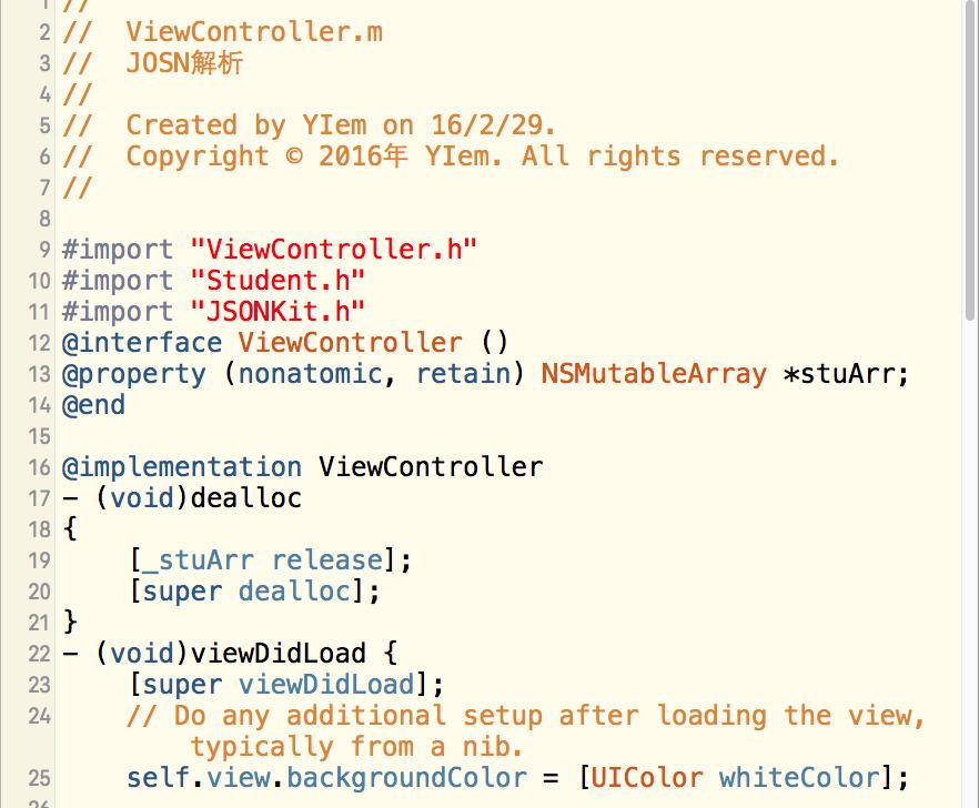 iOS-UI-JOSN数据解析-第三方方法