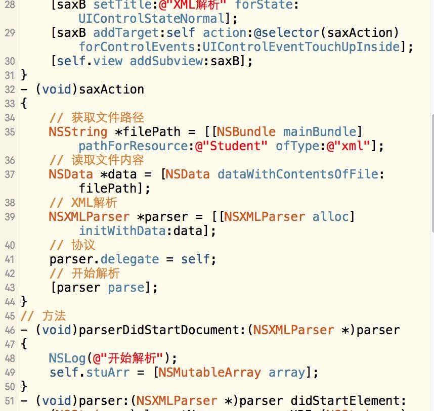 iOS-UI-XML数据解析-SAX方法iOS-UI-XML数据解析-SAX方法