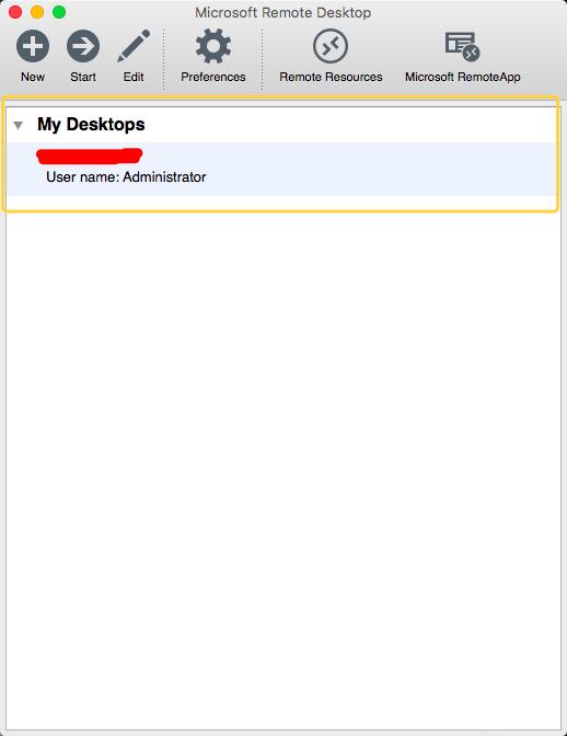 之后会在 My Desktop 中显示, 需要连接  双