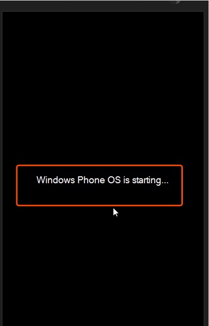 windows phone os is starting