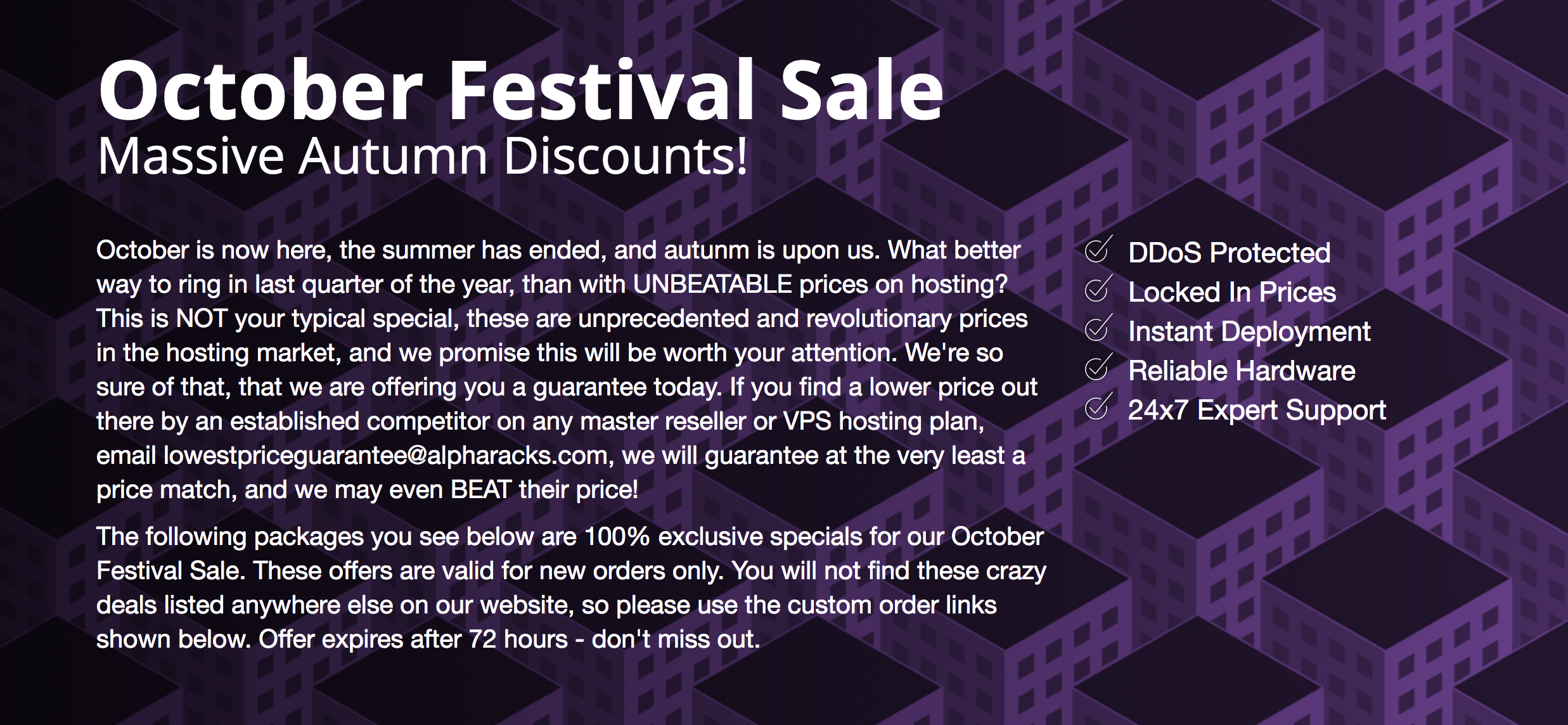 Alpharacks October Festival Sale
