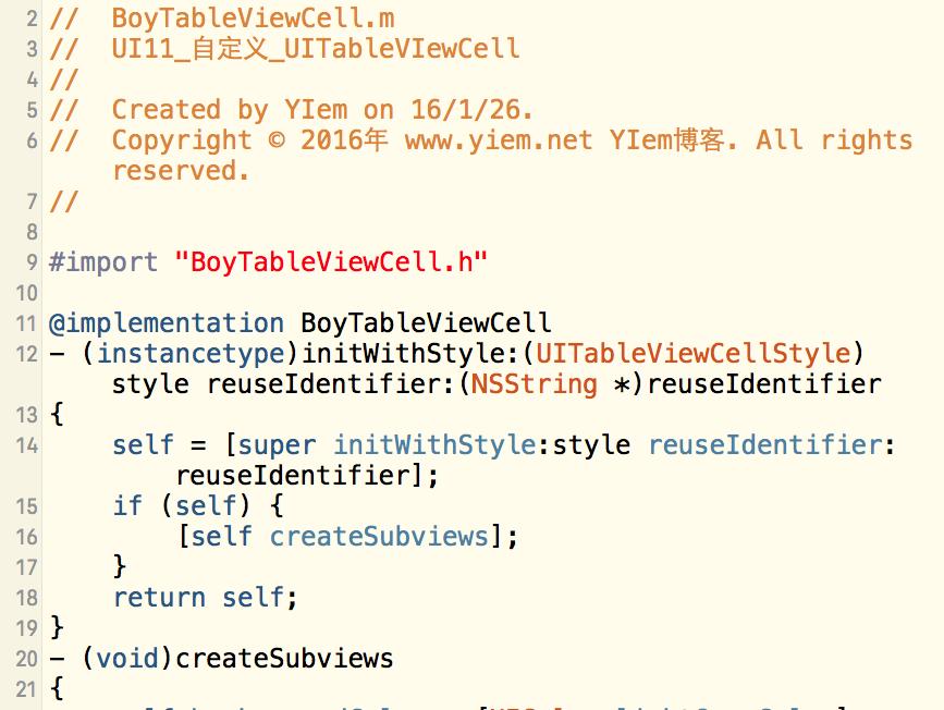 iOS-UI-UITableViewCell 的自定义-自适应高度