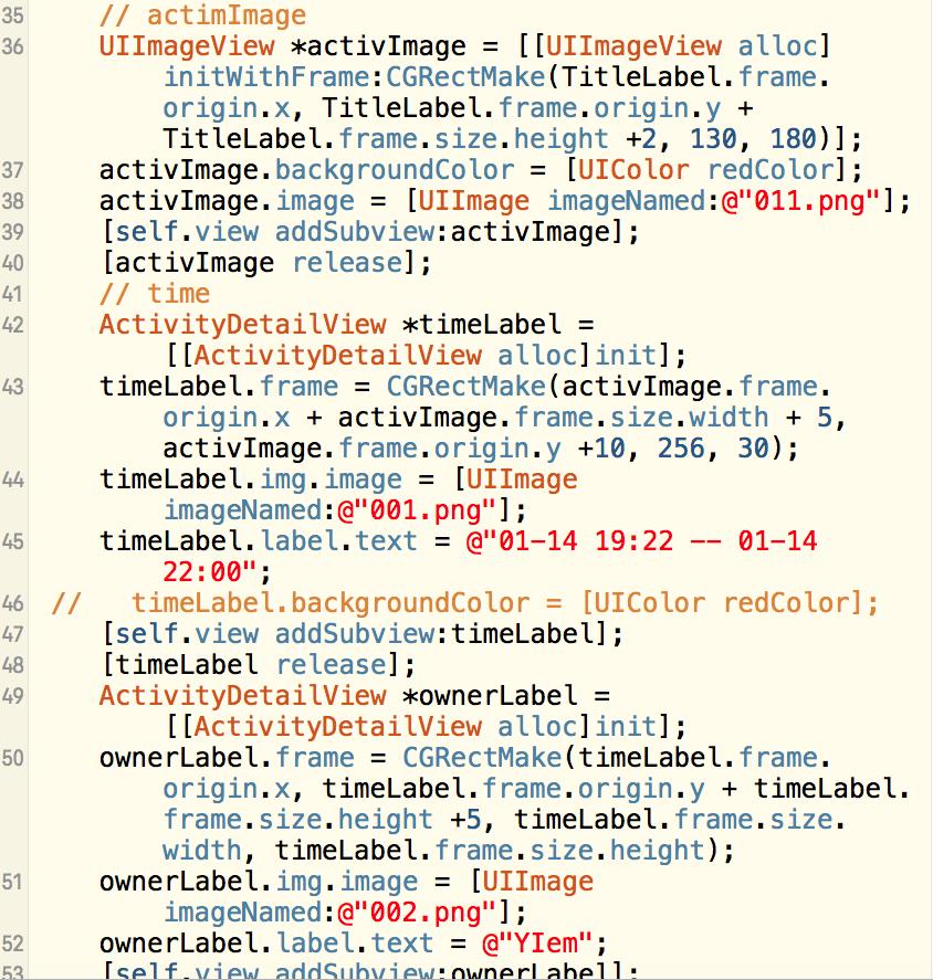 iOS-UI-活动界面铺设