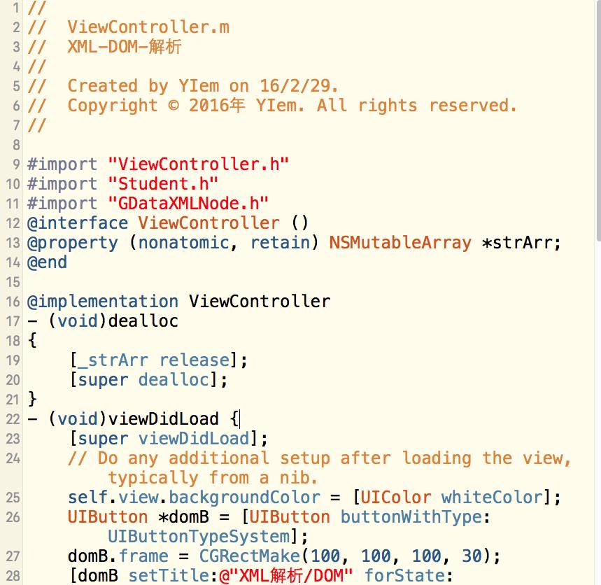 iOS-UI-XML数据解析-DOM方法